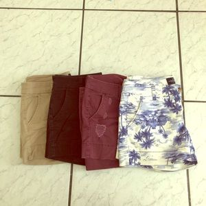 4 American eagle stretch shorts all size 6